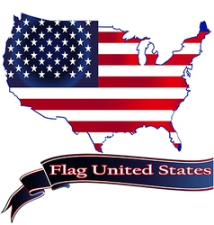 Flag United States button icon sticker isolated so vector image