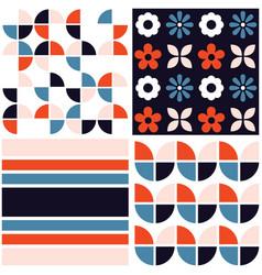 Funky geometric midcentury seamless pattern vector