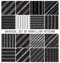 Geometric seamless pattern set repeating vector