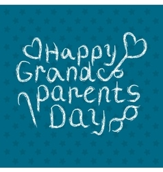 Grandparents day background vector image vector image