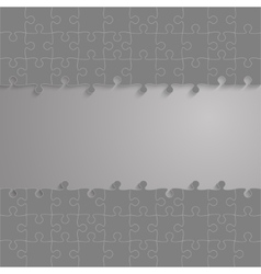 Grey Frame Puzzles Pieces GigSaw - 100 vector