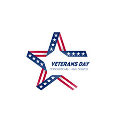 Happy veterans day november 11th united state of vector
