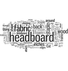 How to make a headboard vector