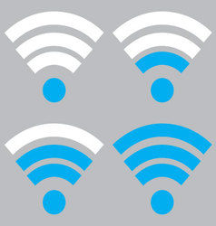 Indicator wifi communication set vector image