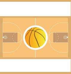 Isolated basketball field vector