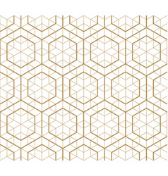 Japanese gold background and pattern geometric pa vector
