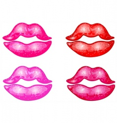 kisses vector image