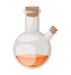 Lab flask isoaled vector image