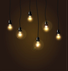 lights isolated realistic design elements vector image