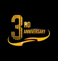 Logo 3rd anniversary vector