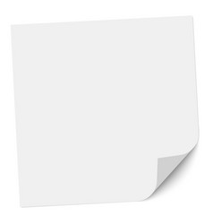 Note paper with a bent right bottom corner vector