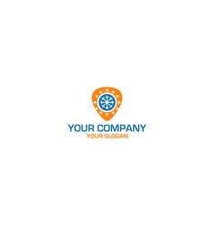 Pick hvac logo design vector