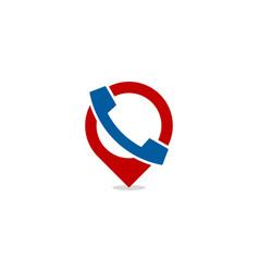 pin call logo icon design vector image