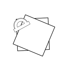 Protractor angle meter vector