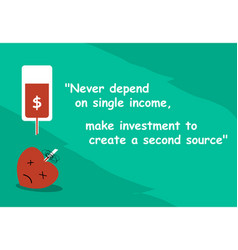 proverb for investment with art and word vector image