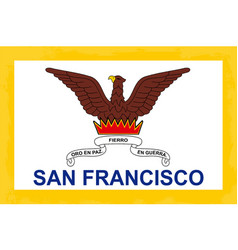 San francisco city flag vector