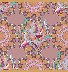 seamless pattern with bright flowering carpet of vector image