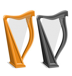 set harps vector image