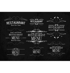 set of templates for restaurant menu vector image
