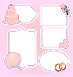 set of wedding stickers vector image