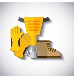 set tools construction isolated icon design vector image