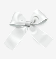 silver ribbon bow vector image