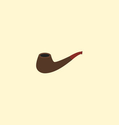 smoking pipe icon flat element vector image