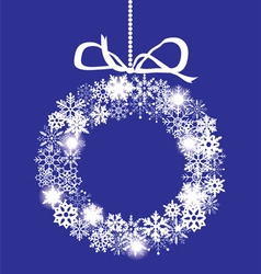 snowflake white wreath vector image