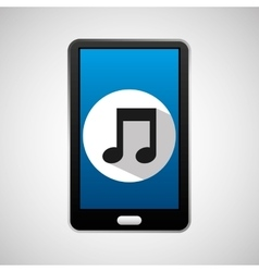 social media mobile music icon vector image