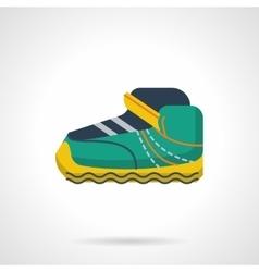 Sport sneaker flat color design icon vector
