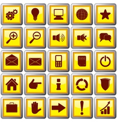square shaped web buttons vector image