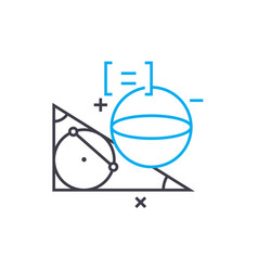 study of geometry linear icon concept study of vector image