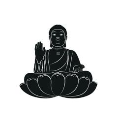 Tian Tan Buddha isolated vector