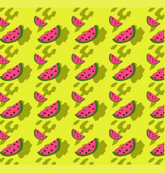 Wedge of watermelon seamless psychedelic colors vector