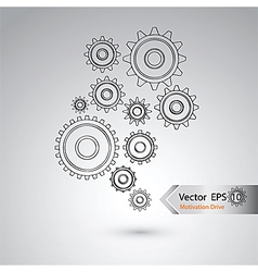 Wheel of design for industrial concept vector image