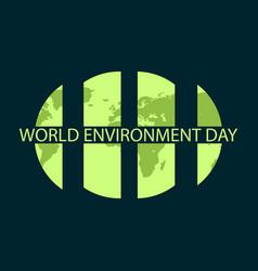 world environment day banner design logo design vector image