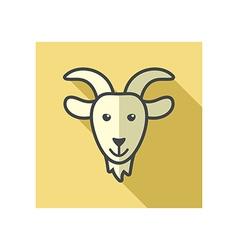 Goat icon Farm animal vector image vector image