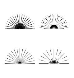 retro sun burst shapes vector image vector image