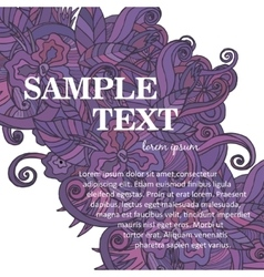 Abstract template Business flyer vector image vector image