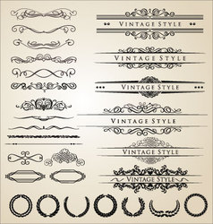 Decorative border and frame set vector