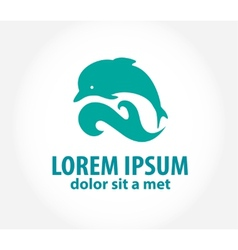 Dolphin icon design element vector image vector image
