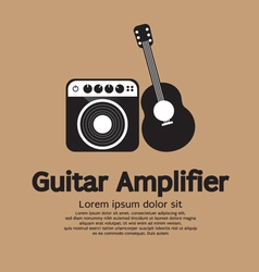 Guitar And Amplifier vector image