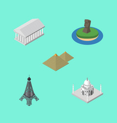 isometric architecture set of chile paris athens vector image vector image