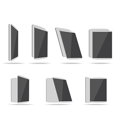 set tablet computers vector image