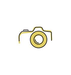 thin line flat camera icon vector image