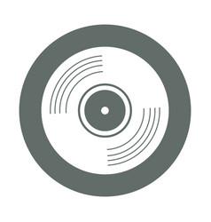 vinyl round icon vector image vector image
