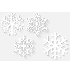 3D Snowflake Set vector image