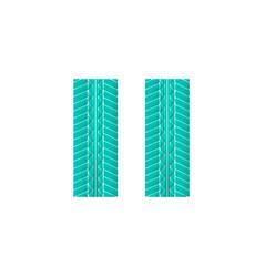 color tire track vector image