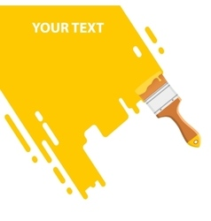 yellow brush background vector image vector image
