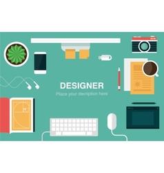 Designer desk header vector